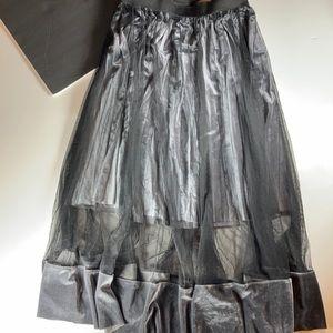 Beulah Style Midi Skirt, Velvet & Tulle
